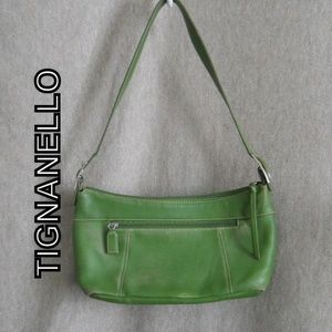 Tignanello Green DISTRESSED Leather Handbag